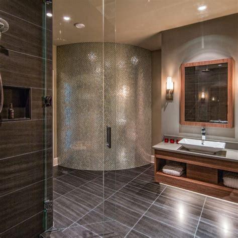Modern Bathroom Tile Designs badfliesen mit metalloptik