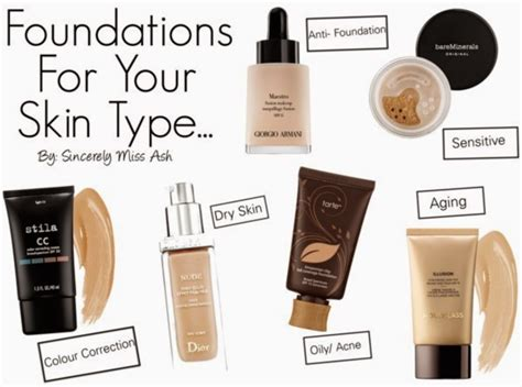 best kind of foundation sincerely miss ash foundations for every skin type
