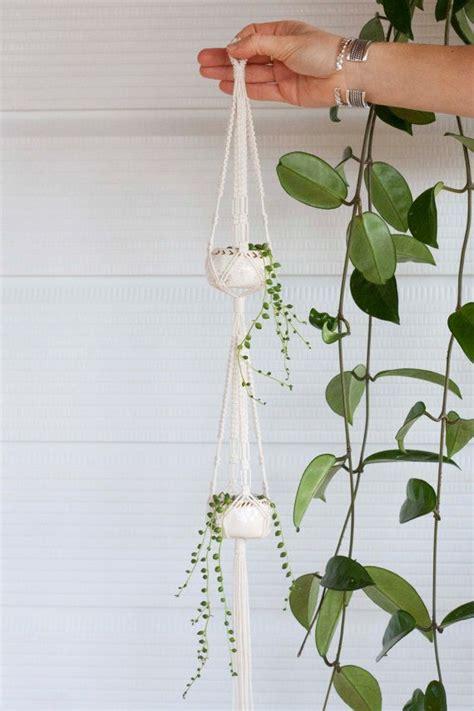 How To Macrame A Plant Hanger - 1000 ideas about pot hanger on pot hanger