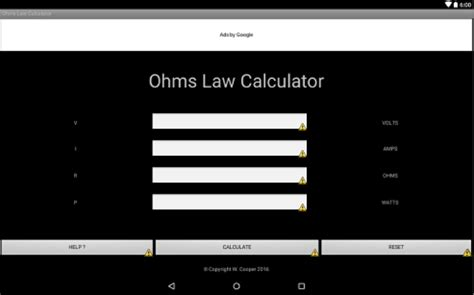 calculator ohm ohm s law calculator android apps on google play