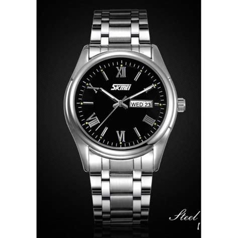 Jam Tangan Skmei 9113 Casual Kulit Tanggal jam tangan skmei