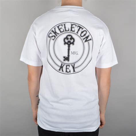 T Shirt Skeleton Key 6snx skeleton key mfg factory dot skate t shirt white skate clothing from skate store uk