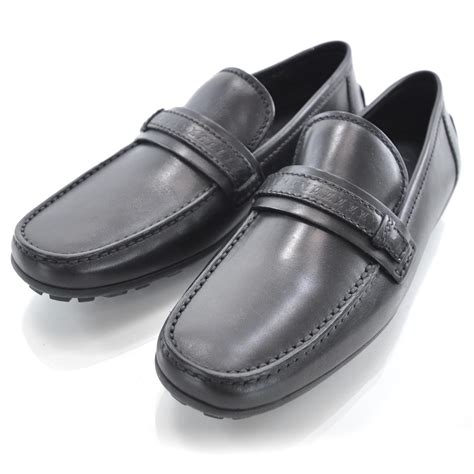 louis vuitton loafers black louis vuitton leather loafers shoes 7 black 31562