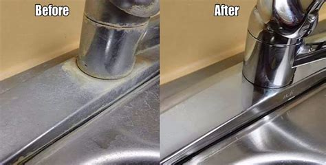 how to clean kitchen faucet how to easily remove hard water deposits on faucets sinks