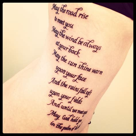 irish blessing tattoo benediction memorial ink