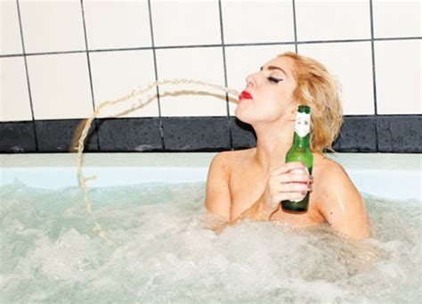 bathtub lady lady gaga face girl drink water bathroom