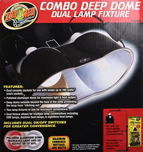 zoo med combo deep dome dual l fixture zoo med combo deep dome dual l fixture