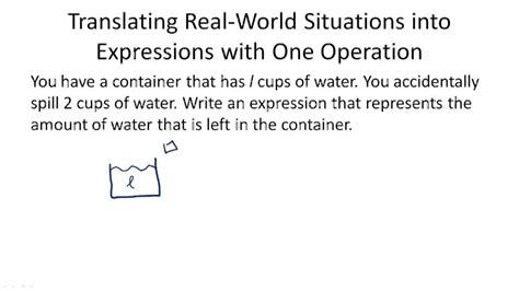 describe pattern in words translating real world situations into expressions exle 1