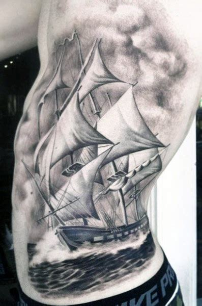 cloud shading tattoo designs cloud shading tattoos for males of ship sailing the seas