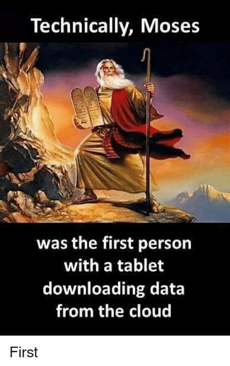 by the early evening people start to gather at the port get their technically moses was the first person with a tablet