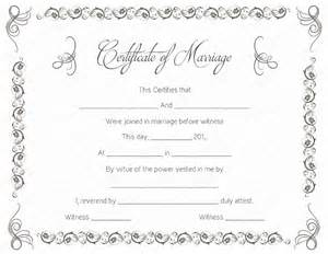 Marriage Certificate Templates Free Simple As Gray Marriage Certificate Template