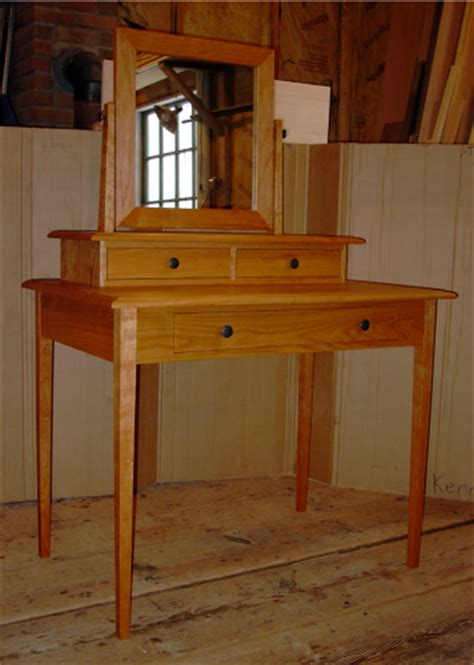 Handmade Vanity Table - custom handmade cherry vanity dressing table from vermont