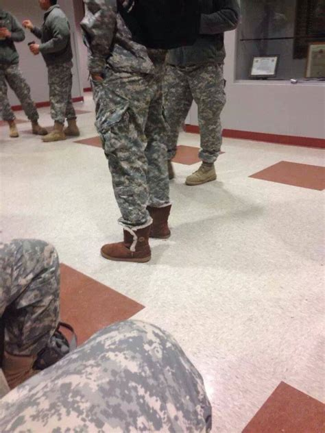 wearing ugg boots fumaga stuff soldier wearing ugg boots