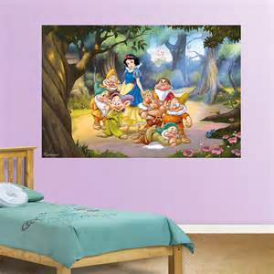 snow white and the seven dwarfs mural wall decal shop fathead 174 for snow white wallpaper disney wallpaper wallpaperink co uk