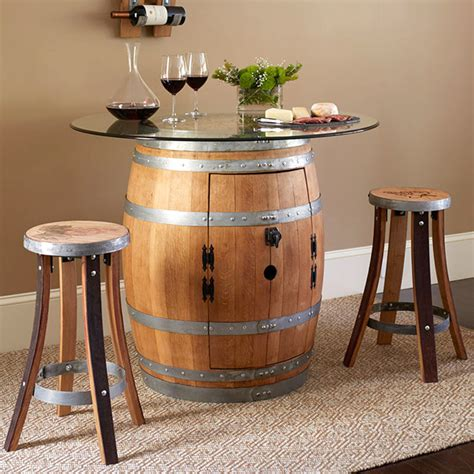 barrel bar table barrel pub table grape seat stools set