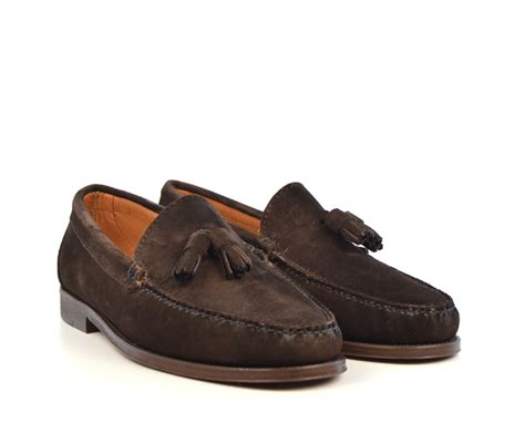 brown suede tassel loafers tassel loafers in brown suede the mod shoes
