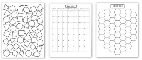 lenten calendar templates 2013 praying in color