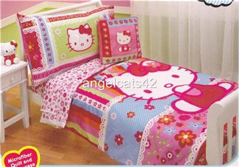 hello kitty toddler bed set hello kitty 4 piece toddler bedding set ebay