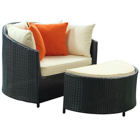 Outdoor Chair With Ottoman Roxanne Modern Outdoor Chair Ottoman Eurway Modern