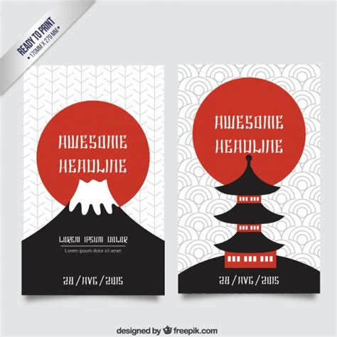 japanese culture brochure vector free download