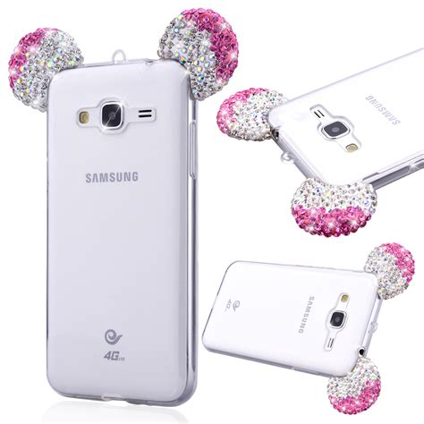Casing Samsung A3 2017 Mickey And Minnie Mouse Custom coque for samsung galaxy j3 j5 a3 a5 2016 s5 cases glitter rhinestone 3d mickey mouse ear