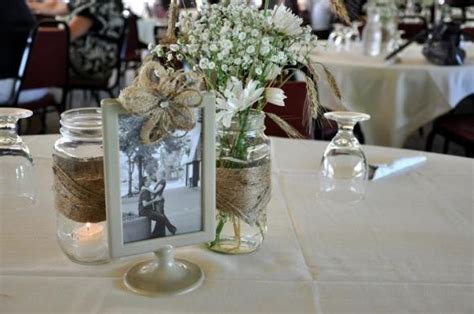 picture frame centerpiece ideas jar and tolsby frame bliss weddingbee photo gallery