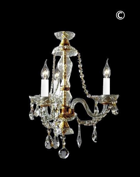 Gold Bathroom Chandelier Bohemian Brilliance 3 Arm Chandelier Gold