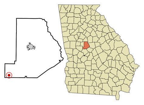 County Ga Search File County Incorporated And Unincorporated Areas Culloden Highlighted
