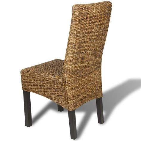 Abaca Dining Chairs Vidaxl Dining Chairs 2 Pcs Abaca Brown Vidaxl Co Uk