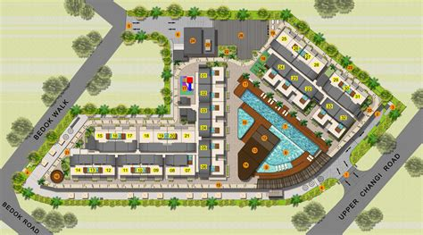 layout village east village condominium site plan layout singapore