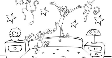 monkeys coloring page  nursery rhymes