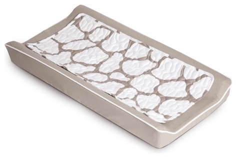 Cobblestone Changing Pad Cover Taupe Contemporary Changing Table Pad Cover