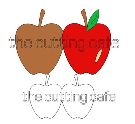 apples to apples cards template the cutting cafe apple shaped card