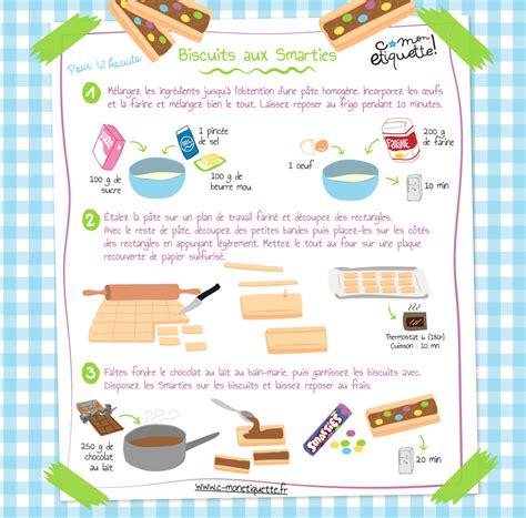 recette de cuisine simple avec des l馮umes recette biscuits aux smarties