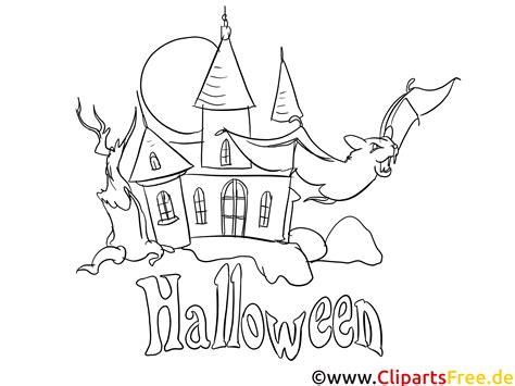 kostenlose malvorlage zu halloween schloss