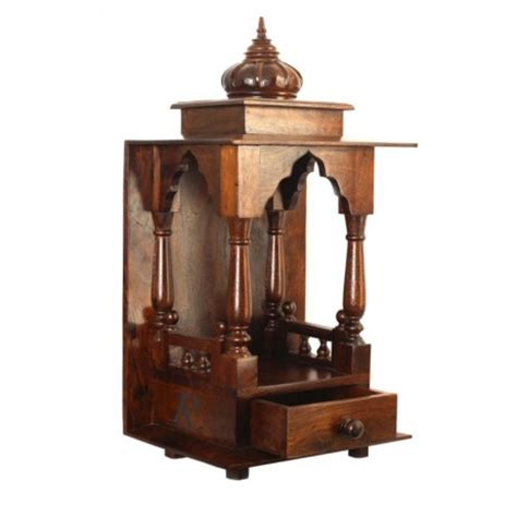 White Bookshelf With Drawers Temple Tall Suryanagri Handicrafts