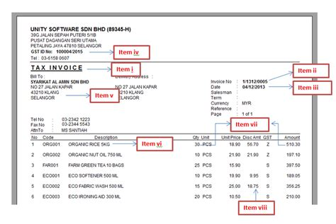 Gst Invoice Template   invoice sample template