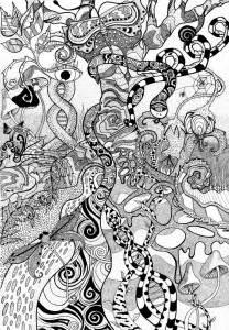 psychedelic dot forest by faeriegem on deviantart