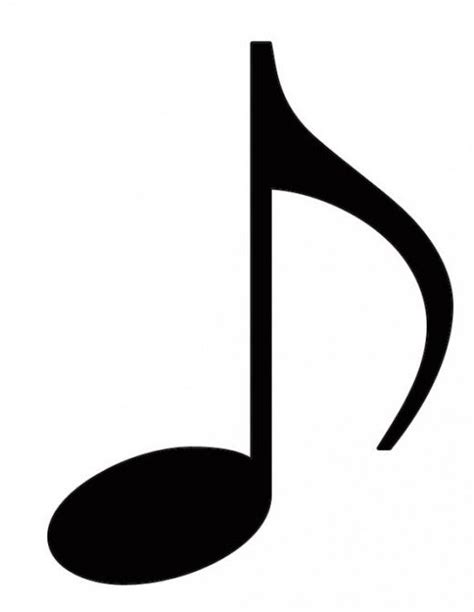 Note Pictures Clip by Free Coloring Pages Of Eighth Note