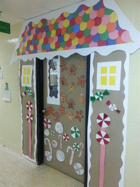 gingrbread house on school door 17 best images about classroom on gingerbread house equation and