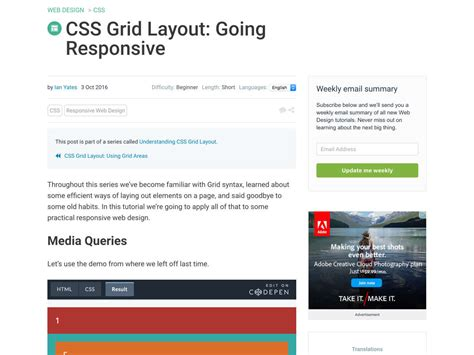 grid layout css responsive popular design news of the week october 10 2016