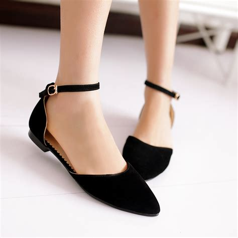 ankle flat shoes pointed flat shoes with ankle images