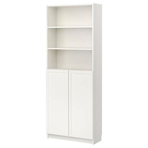 Bookcases With Doors Ikea Billy Bookcase With Doors White Ikea For The Home