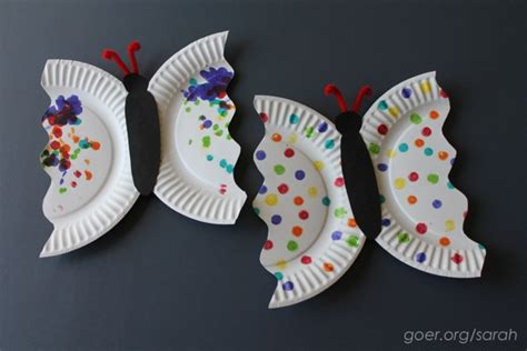 butterfly paper plate craft butterfly paper plate craft www imgkid the image
