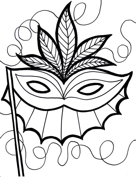 Printable Mask Coloring Pages Coloring Me Masks Coloring Pages