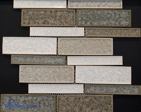 ceramic crackle glass tile mosaic kitchen backsplashes