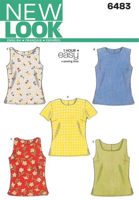 simple pattern top marks new look pattern nl6483 misses top easy jaycotts co