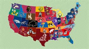 us map by college football college football friday