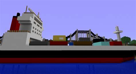 minecraft cargo boat cargo ship minecraft project