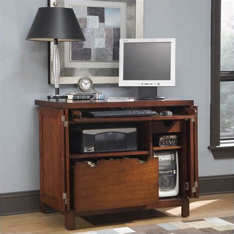 computer cabinet desk home styles furniture hanover compact wood cabinet cherry